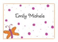 Butterfly With Polka Dots Folded Notecard