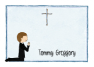 Boy's First Communion Address Label