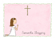Praying Communion Girl Invitations