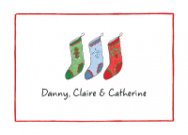 Christmas Stockings for 3 Labels