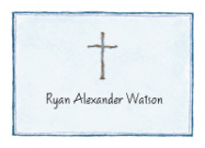 Blue Cross Invitations for a Baptism