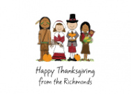 Thanksgiving Pilgrims And Indians Invitations