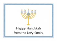 Hanukkah Menorah Folded Notecard