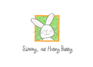 Peeking Bunny Label