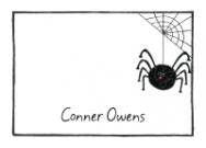 Black Spider Flat Notecard
