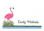 Flamingo Folded Notecard
