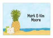 Pineapple at the Beach Stationery