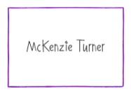 Purple Line Border Stationery