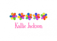 Rainbow Flowers Thank You Notes