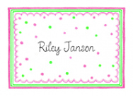 Triple Pink And Brown Folded Notecard