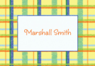 Yellow and Blue Plaid Stationery