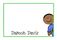 African American Boy Thank You Notes