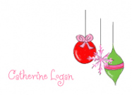 Pink Christmas Ornaments Stationery