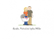 Couple with Baby Girl Stationery