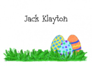 Blue Easter Eggs Stationery