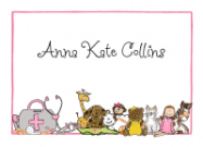 Pink Doctor Kit with Animals Stationery