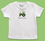 Green Tractor Folded Notecard