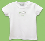 White Dove Baby Bib