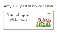 Amy's Tulips Waterproof Label