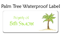 Palm Tree Waterproof Label