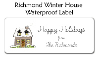 Richmond Winter House Waterproof Label