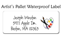 Artist Pallet Waterproof Label