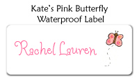 Kate's Pink Butterfly Photo Card