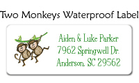 Two Monkeys Address Labels