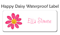 Happy Daisy Waterproof Label