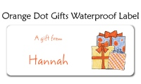 Orange Gift Address Labels