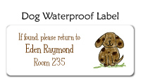 Dog Waterproof Label