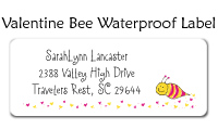 Valentine Bee Flat Card