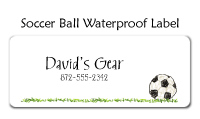 Soccer Ball Waterproof Label