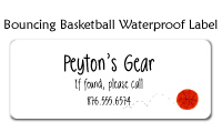 Bouncing Basketball Waterproof Label