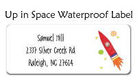 Up In Space Waterproof Label