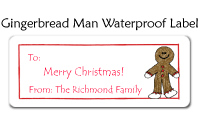 Gingerbread Man Waterproof Label