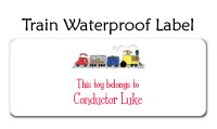 Train Waterproof Label