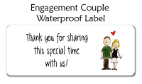 Engagement Couple Waterproof Label