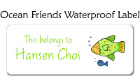 Ocean Friends Waterproof Label
