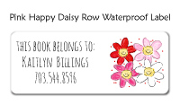 Pink Happy Daisy Row Bag Tag