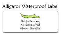 Alligator Waterproof Label