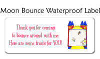 Moon Bounce Waterproof Label