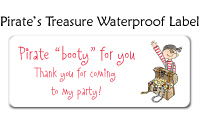 Pirate's Treasure Waterproof Label