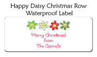 Christmas Daisy Address Labels