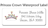 Princess Crown Folded Notecard