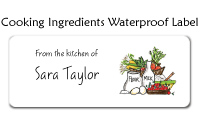 Cooking Ingredients Waterproof Label