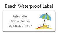 Beach Waterproof Label