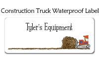 Construction Truck Waterproof Label