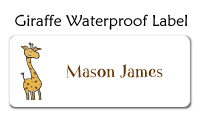 Giraffe Waterproof Label