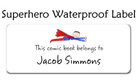 Superhero Waterproof Label